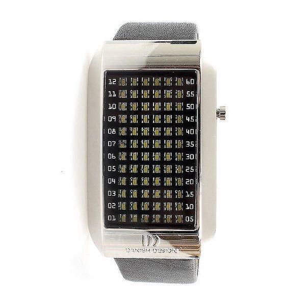 Unisexové hranaté futuristické hodinky Danish Design