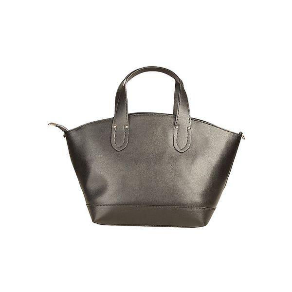 Dámská černá kabelka se zapínáním na zip Made in Italia