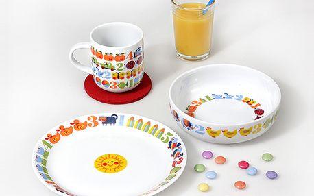 3-dílná sada dětského nádobí s číslicemi