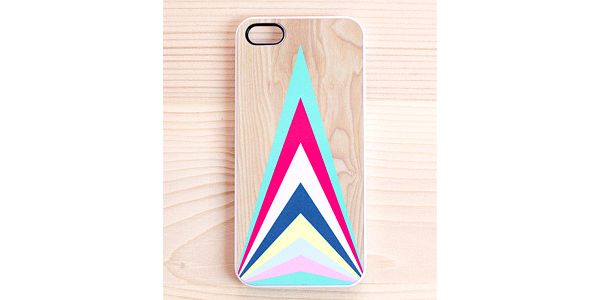 Obal na iPhone 4/4S, Colourful Upward Triangles