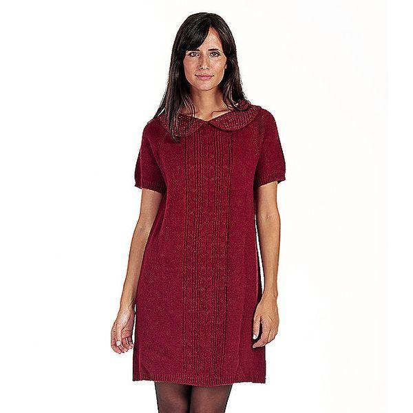 Červené šaty s límečkem Peace&Love