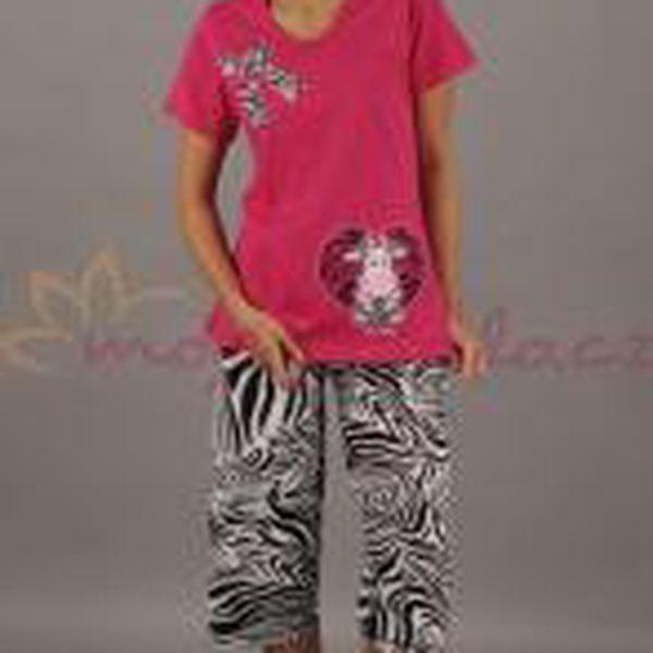 Dámské pyžamo kapri Vienetta Secret - Pruhovaná mašle