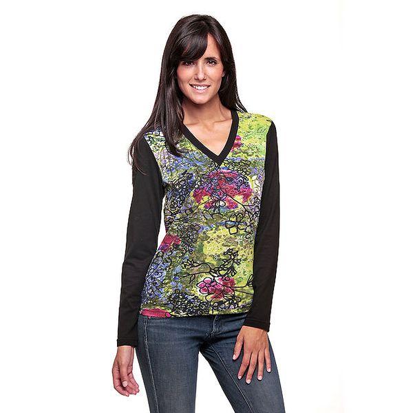 Dámské tričko s barevným předním dílem Peace&Love