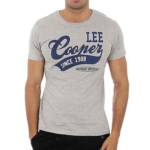 Pánské šedé tričko Lee Cooper