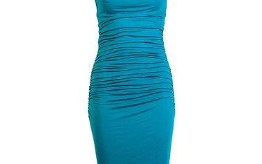 Dámské modré šaty s průstřihem na zádech CeMe London