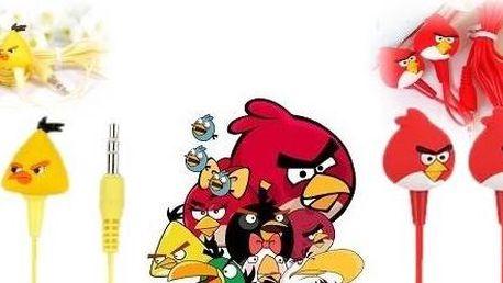 Výprodej !!!! Za pouhých 89Kč . SLUCHÁTKA Angry Birds! Stylová špuntová sluchátka s jedinečným designem.
