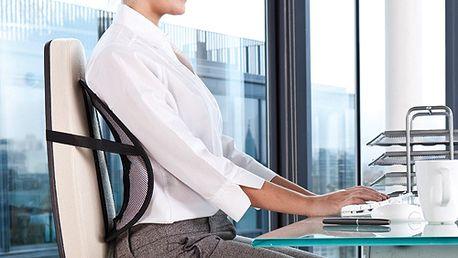 Ergonomická opierka upevniteľná na stoličku