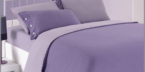 Povlečení Lilac-Purple, 160x220 cm s prostěradlem