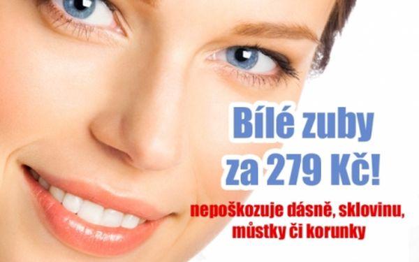 Neperoxidové BĚLENÍ ZUBŮ SUPER STAR WHITE! Nepoškozuje dásně, sklovinu ani můstky či korunky! Studio Marcellina u metra Hradčanská...