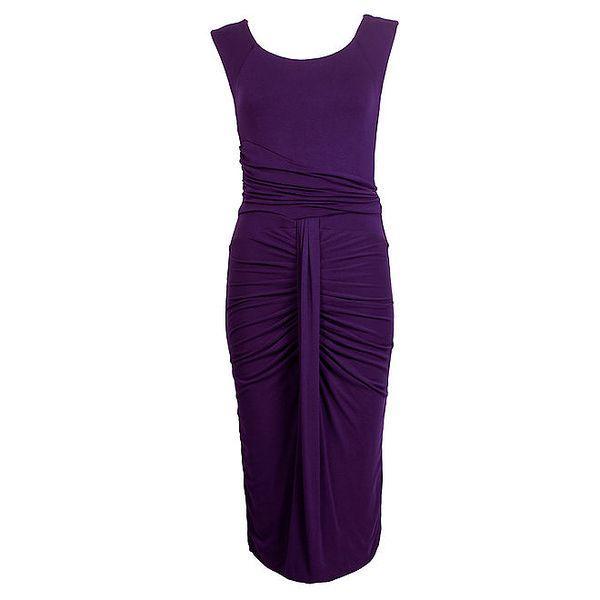 Dámské fialové šaty bez rukávů CeMe London