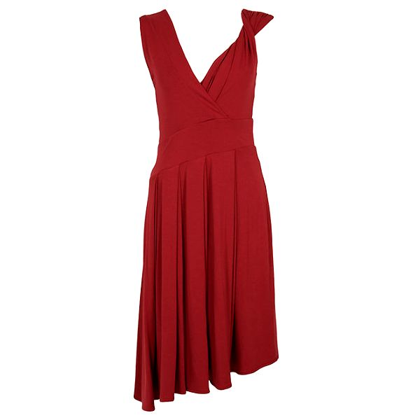 Dámské vínové šaty s bohatou splývavou sukní CeMe London