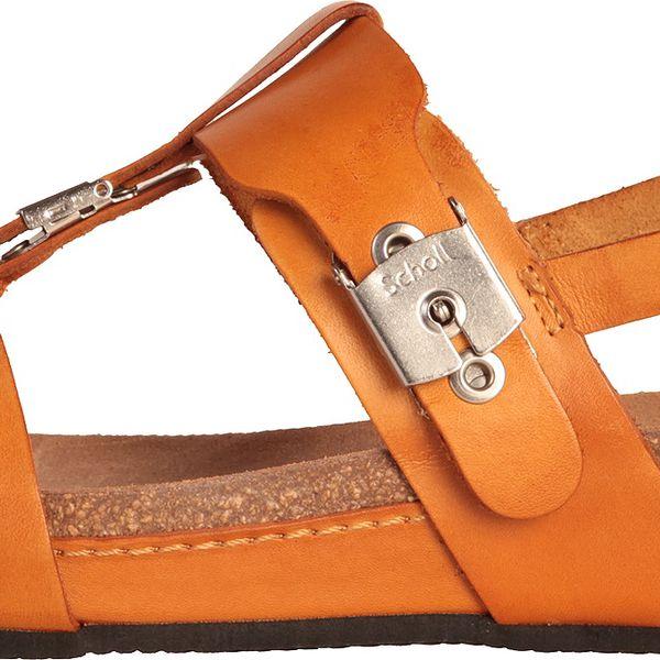 Kvalitní dámské kožené sandály Dr.Scholl Malima na vyšší podrážce zaručují pohodlnou chůzi.