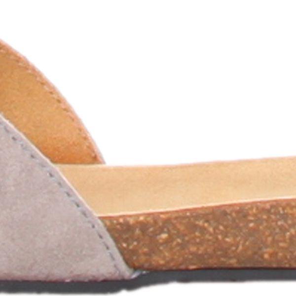 Dámské semišové pantofle Bahama značky Dr.Scholl s šedými pásky - kvalitní a pohodlné