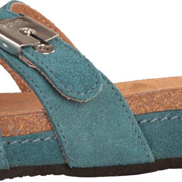 Dámské semišové pantofle Maest v petrolejové barvě od značky Dr. Scholl.