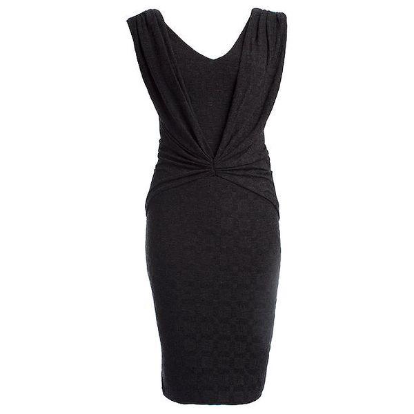 Dámské černé šaty s károvaným povrchem CeMe London