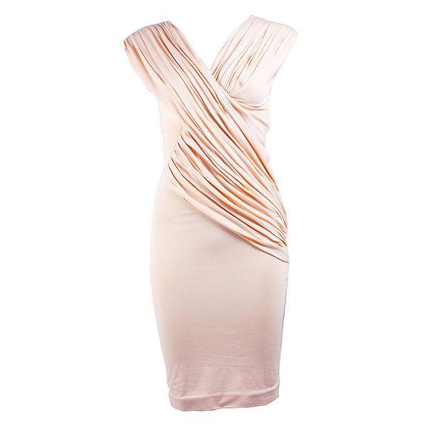Dámské krátké krémové zavinovací šaty CeMe London