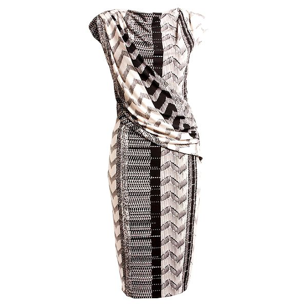 Dámské černo-bílé antické šaty CeMe London
