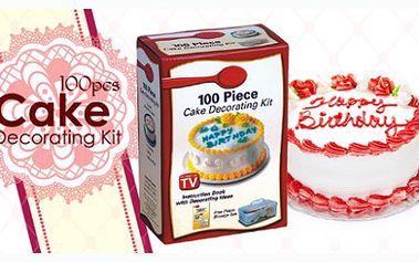 Zdobička na dorty s neuvěřitelnými 100 nástavci pro různé typy zdobení a plastovým úložným boxem za 199 Kč. Nádherně nazdobené dorty, cukroví, koláče a jiné dobroty. Staňte se profesionálem!
