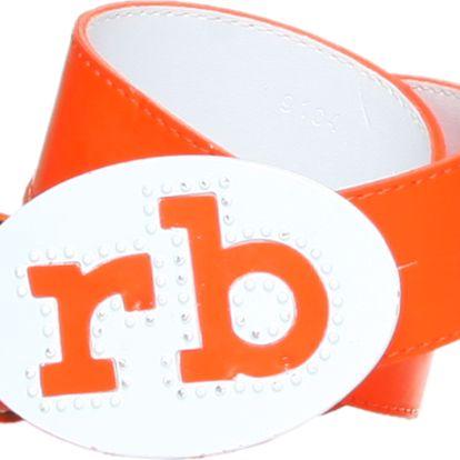 Dámský pásek značky Roccobarocco v nepřehlédnutelné oranžové barvě.
