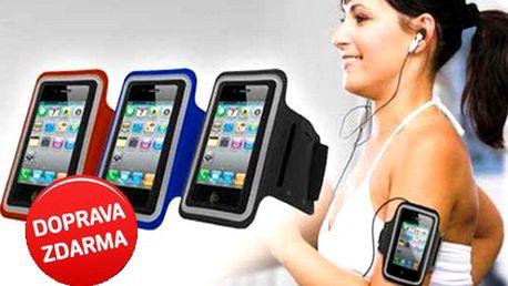 Sportovní pouzdro na chytré telefony s páskou přes ruku s DOPRAVOU ZDARMA! Vhodné pro chytré telefony iPhone, Samsung, HTC, Nokia, Sony Xperia a další. Uschová i peníze a doklady.