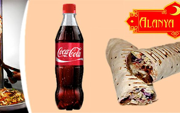 2x malý twister classic a 2x 0,5 l coca-coly nebo Ayran v Alanya Kebabu