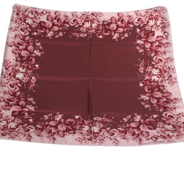 Hedvábný šátek Gianfranco Ferré s květinovým vzorem