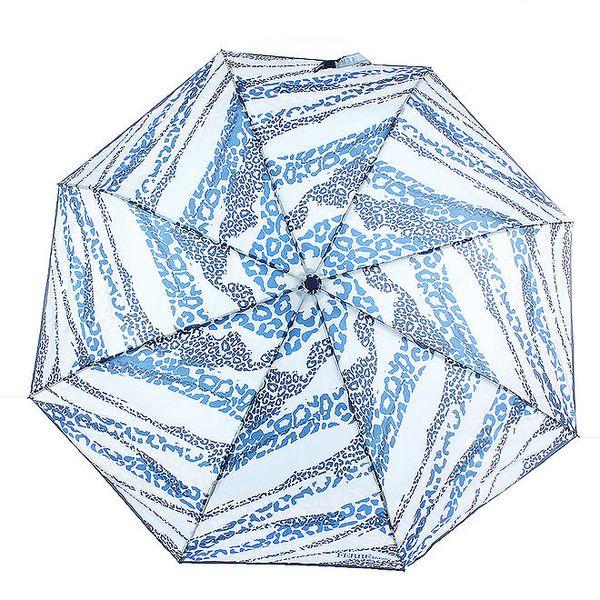 Dámský modrý deštník se zvířecím potiskem Ferré Milano