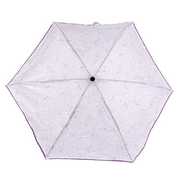 Dámský fialovo-bílý deštník s květinovým potiskem Ferré Milano