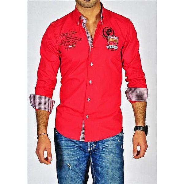 Pánská červená košile Pontto