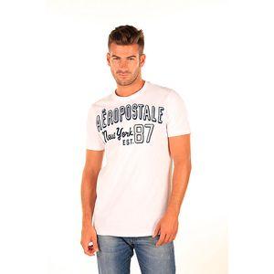 Pánské bílé tričko Aéropostale s retro nápisem