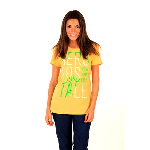 Dámské žluté tričko s nápisem Aéropostale