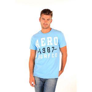 Pánské nebesky modré tričko s nápisy Aéropostale
