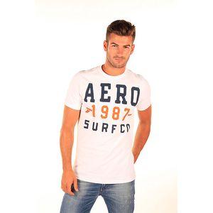 Pánské bílé tričko s nápisem Aéropostale