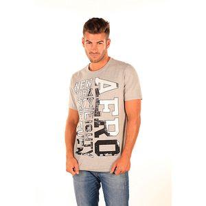 Pánské světle šedé tričko s fotopotiskem Aéropostale