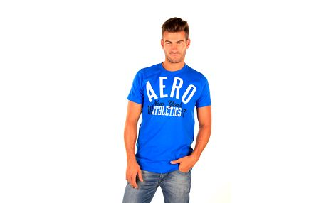 Pánské modré tričko Aéropostale s dvoubarevným nápisem