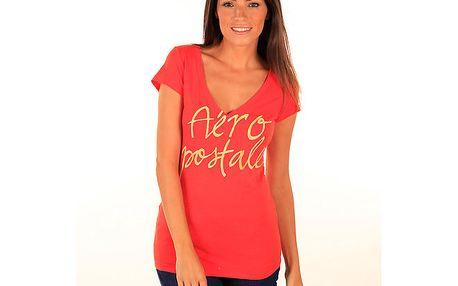 Dámské červené tričko s nápisem Aéropostale