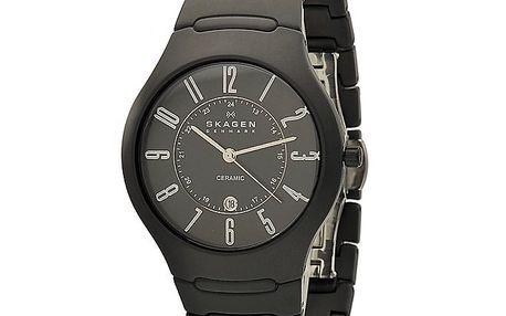 Pánské černé keramické hodinky Skagen