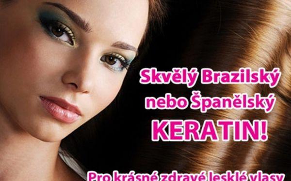 Brazilská nebo Španělská keratinová kúra za 499 Kč! Navraťte svým vlasům ztracenou sílu, hebkost, a lesk...