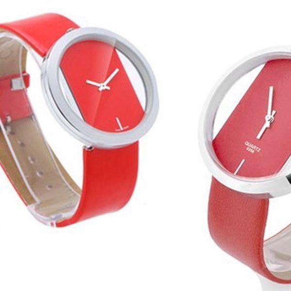 ELEGANTNÉ hodinky SINOBI QUARTZ 6256 so skleneným ciferníkom a koženým remienkom!