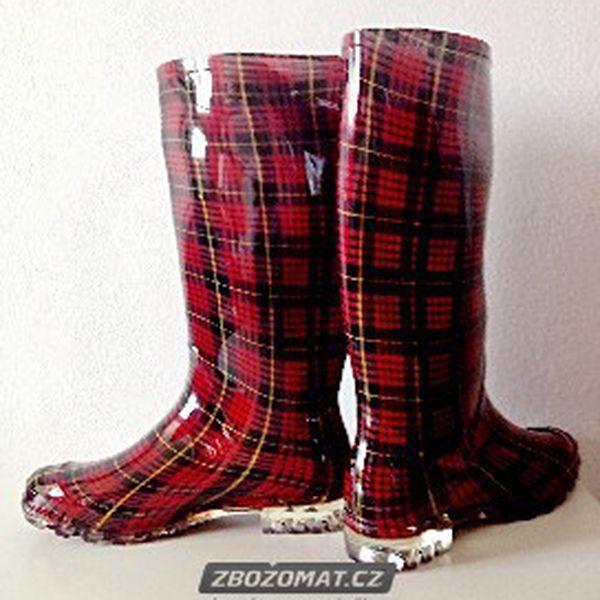 Dámské barevné holínky - nohy v suchu i v deštivém počasí!