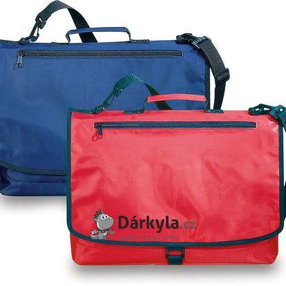 Červená nylonová konferenční taška na rameno