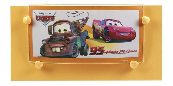 Dětské nástěnné svítidlo (33788) s motivem autíček Cars z filmu od Disney&Pixar.
