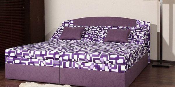 Manželské čalouněné postele