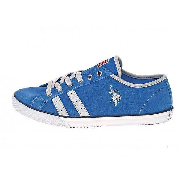 Pánské blankytně modré textilní tenisky U.S. Polo