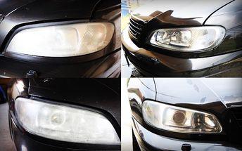 Renovácia predných plastových svetlometov účinne odstraňuje zažltnutie, matnosť i rôzne škrabance.
