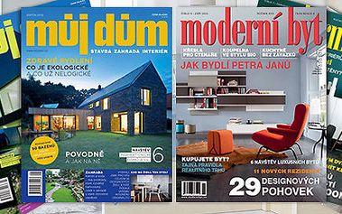 Předplatné časopisu Můj dům či Moderní byt