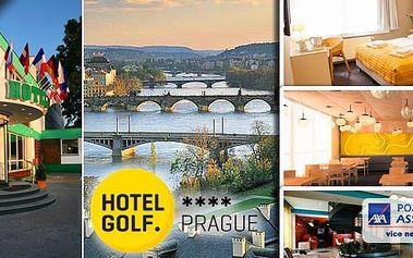 10 wellness procedur v Hotelu GOLF **** Praha - relax pobyt pro 2 osoby na 3 dny v jednom z nejkrásnějších měst Evropy. Nechte se hýčkat pod rukama profesionálních masérů a večer se vydejte na procházku do města nebo zajděte do divadla.