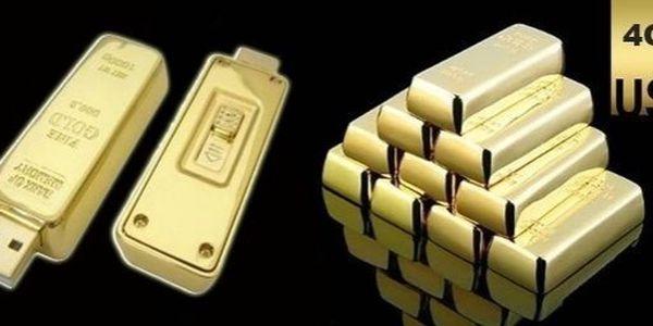 Originální USB flash disk v podobě zlaté cihličky - 4gb za 199 kč. Dopřejte sobě nebo svým známým dárek, který potěší!