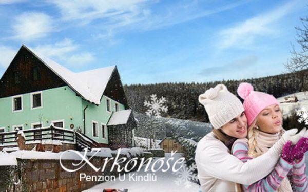 Užijte si 3DENNÍ zimní dovolenou v nádherných KRKONOŠÍCH! Ubytování s bohatou POLOPENZÍ v pensionu U Kindlů pro 2 dospělé + 1 dítě ZDARMA za jedinečných 1699 Kč! Vouchery platné až do ZÁŘÍ 2014!
