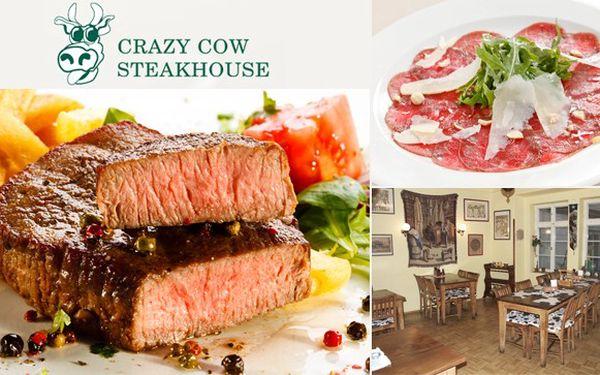 Steakové menu pro dva v Crazy Cow – 66% sleva!